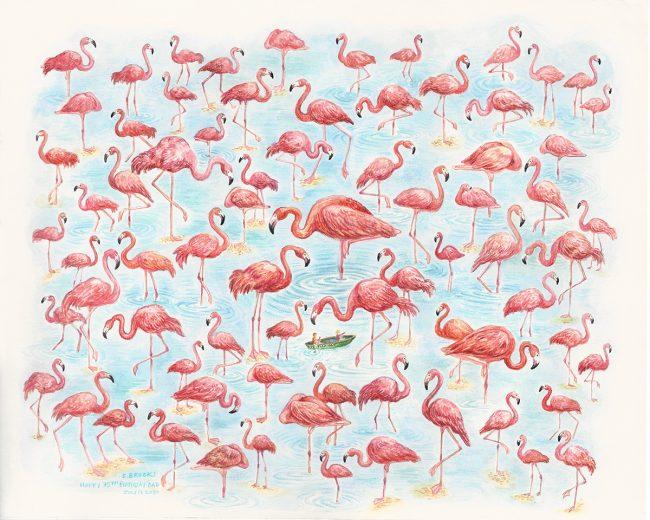 75 Flamingos